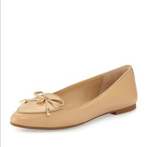 Michael Kors nude leather flats